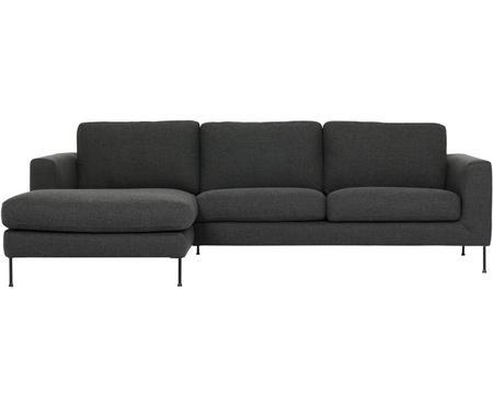 Sofa narożna z metalowymi nogami Cucita (3-osobowa)