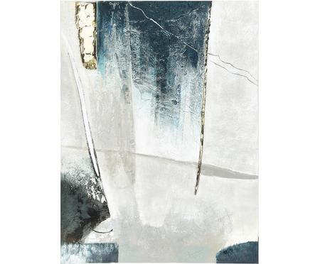 Ręcznie malowany obraz na płótnie Golden Blue I