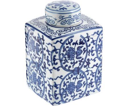 Wazon z porcelany z pokrywką Ella