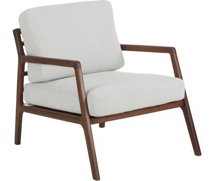 Fotel z drewna orzecha włoskiego Becky