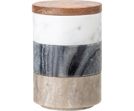 Komplet pojemników do przechowywania z marmuru Gatherings, 3 elem.