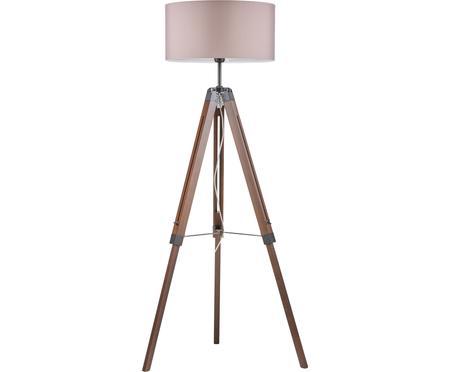 Lampa podłogowa z drewna z orzecha włoskiego Josey