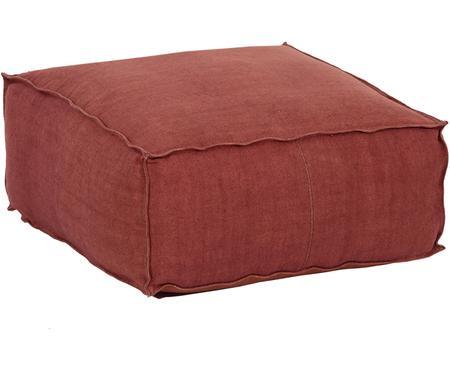 Ręcznie wykonana poduszka podłogowa z lnu Saffron