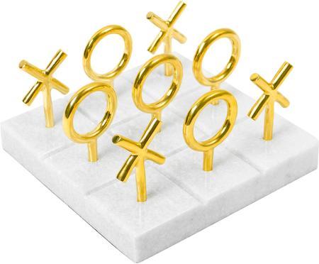 Gra na marmurowej planszy w kółko i krzyżyk
