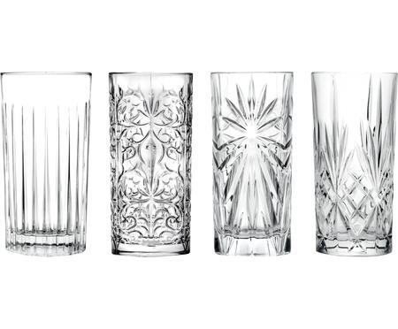 Kryształowy komplet szklanek do koktajli Bichiera, 4 elem.