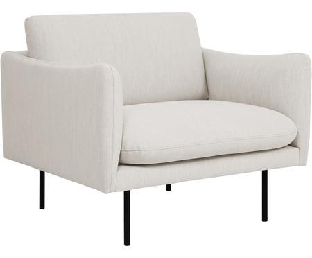 Fotel z metalowymi nogami Moby