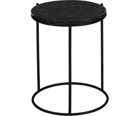 Okrągły stolik pomocniczy z marmuru Ella