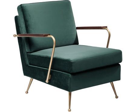 Fotel z aksamitu Gamble