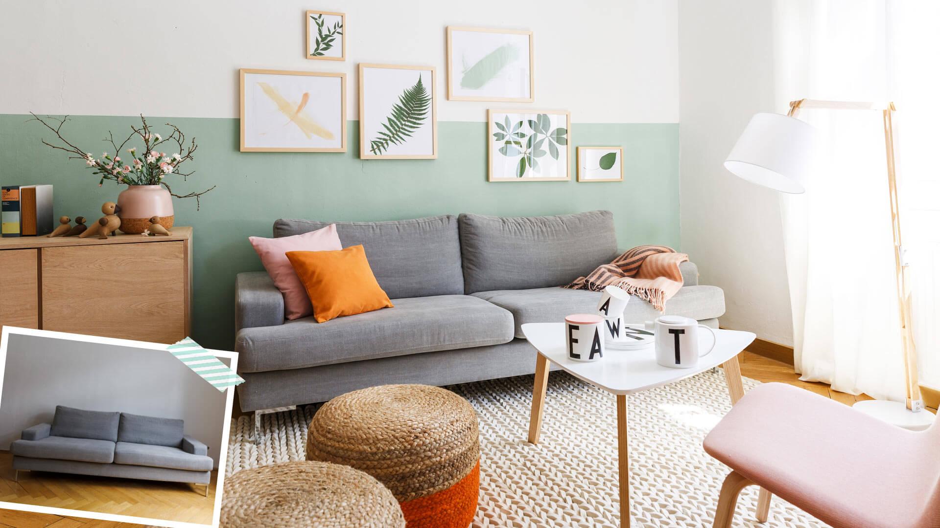 Sofa w stylu scandi