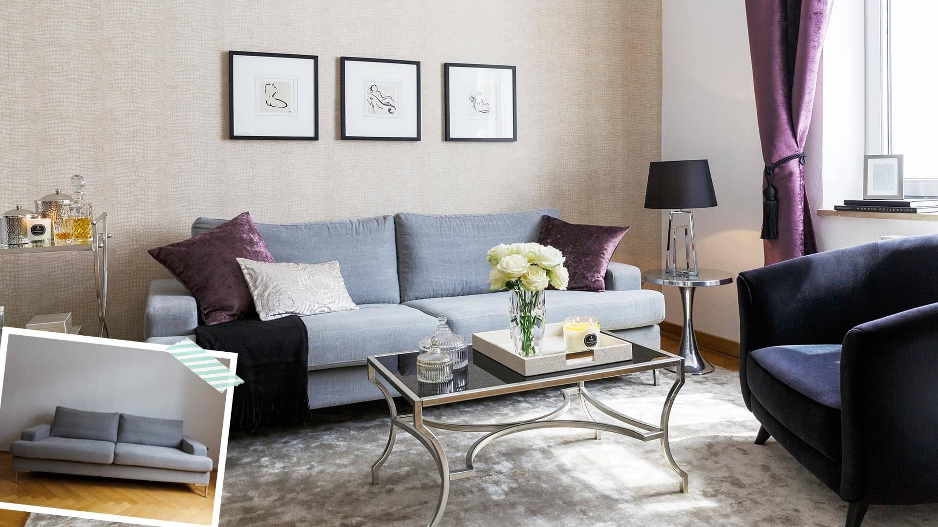 Sofa w stylu glamour