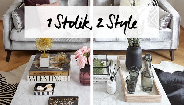 1 stolik, 2 style
