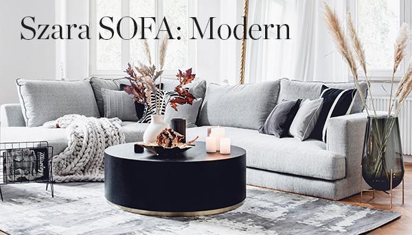 Szara sofa Modern