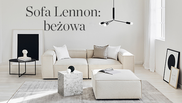 Sofa Lennon: beżowa